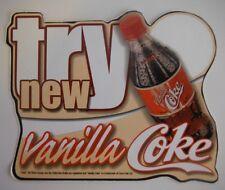 COCA-COLA VANILLA COKE ADVERTISING STICKER - UNUSED