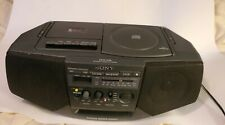 Sony Cfd-V15 Boombox Cassette Cd Player Am Fm Mega Bass Works Great! Vintage '97