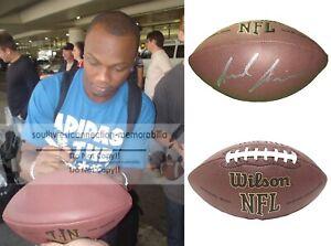 Jerrel Jernigan N.Y. Giants Signed NFL Football Troy Exact Proof Autograph COA