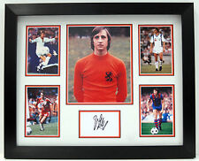 Johan CRUYFF Signed Framed Autograph PHOTO DISPLAY Holland Ajax AC MILAN AFTAL