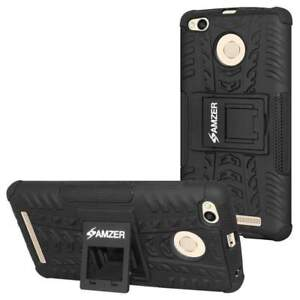 AMZER Rugged Armor Warrior Case With Kickstand Cover For Xiaomi Redmi 3S Prime