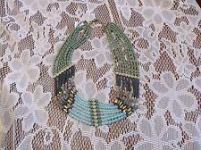"lia Sophia ""Goddess"" Necklace Drape 22"" Aqua-Teal Tiny Stones NWT"