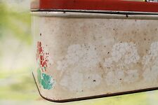Vintage National Can Corp. Metal Bread Box, Geraniums