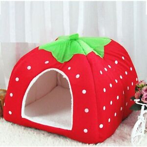 Nest Small Pet Animal Guinea Pig Hamster Bed House Winter Warm Strawberry House