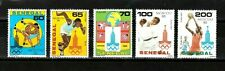 NO RESERVE AUCTION!!  Senegal stamps #534-538, Moscow Olympics, MHOG, VVF, 1980