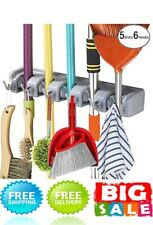 Mop Broom Holder Wall Mounted Kitchen Hanging Garage Utility Tool Organizers