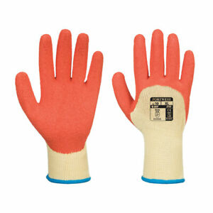 Portwest A105 Grip Xtra 3/4 Coated Latex Safety Work Heavy Duty Protect Gloves