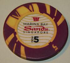 CASINO CHIP SGD marina bay sands SINGAPORE JETON chips SINGAPOUR game GAMBLING