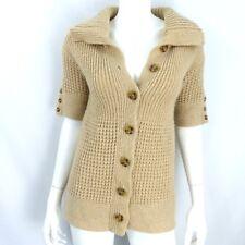 Diane von Furstenberg Wool Blend Short Sleeve Sweater Cardigan Size S P
