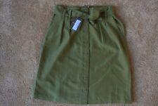 TOMMY BAHAMA SANSABAR MIDI Forest Moss Green 100% Silk Skirt 6 NWT$139 With Belt