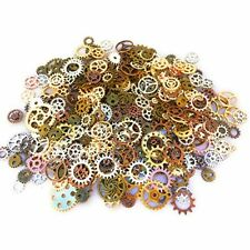 500 Pcs Steampunk Gears Antique Assorted Mixed Color Vintage Silver Gold Bronze