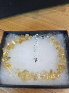 Citrine Chip Gemstone Bracelet
