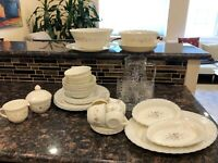 Arcopal Victoria Vintage 43 Piece dish set Service 4