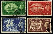1951 Great Britain #286-89 General Issues - Used - Vf+ - Cv$25.00 (Esp#3744)