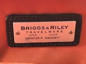 BRIGGS & RILEY Verb Span Expandable Rolling Black Briefcase VBR412X-4 $339