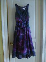 Lela Rose Neiman Marcus Target Dress Size 2 Purple Floral Watercolor Hi Lo NWT