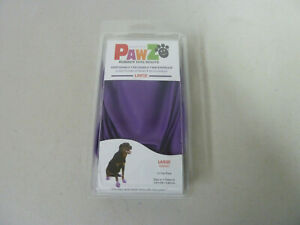 New One 12 Pack Pawz Rubber Dog Boots Purple Size Large