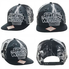 Star Wars Black/White Sublimated Character Snapback Hat Baseball Cap SALE