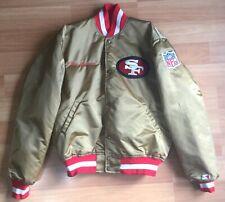 OLD VTG NFL SAN FRANCISCO 49ER'S PROLINE STARTER JACKET JOE MONTANA SIZE LARGE