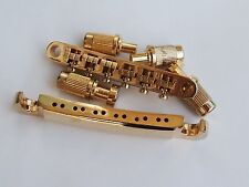 Gold Tune-o-Matic Bridge & Stop Tail Bar for 12 String Electric Guitar