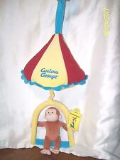 Applause Curious George Pulldown Musical Plush Circus Crib Pull Toy With Tag