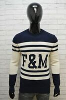 Maglione Franklin Marshall Uomo Pullover Lana Taglia L Sweater Cardigan Bianco