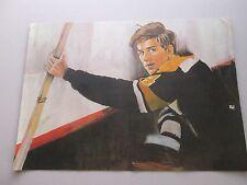 1970 Bobby Orr Boston Bruins Print On Canvas 10X14 Vg Free Shipping