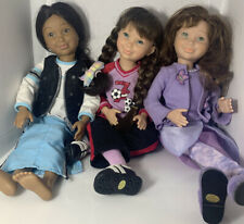 New ListingAmerican Girl Pleasant Company Hopscotch Hill Girls Three 3 Dolls with Clothes