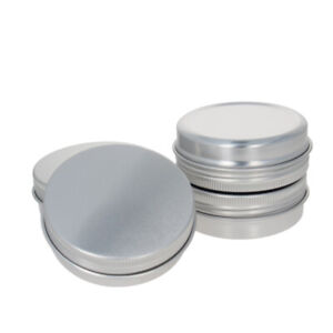 60/100/150/250ML Screw Top Lid Jars Round Aluminum Tin Metal Container Can 1~30p