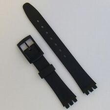 Swatch Fitting Watch Strap Ladies 12mm Black Resin