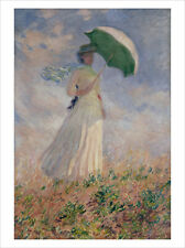 Monet - Woman with Parasol fine art giclee print poster wall art various sizes