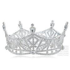TQF88 Clear Austrain Rhinestone Alloy Bridal Prom Tiara Queen Miss America Crown