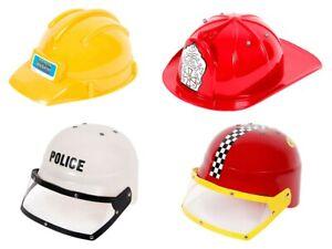Polizeihelm Feuerwehrhelm Baustellenhelm Kinder Polizist Bauarbeiter Karneval