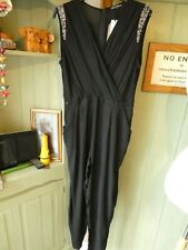 ROCK AND REVIVAL BLACK SLEEVELESS JUMPSUIT SIZE 18, BNT.
