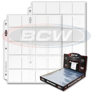 BCW 10 sheets Pro 20 pocket 2x2 2 X 2 pages Coins Slides Pogs ultra storage