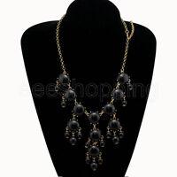 Fashion New Girls Women Bubble Bib Statement Chain Necklace Fashion 12 Colors