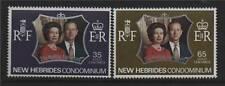 New Hebrides 1972 Silver Wedding SG 172/3 MNH