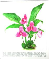 1999 New York International Orchid Show Poster by Angela Mirro