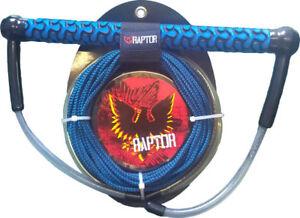 "RAPTOR Spectre 15"" EVA Pro Wakeboard Handle with 65 foot U Line Red or Blue"
