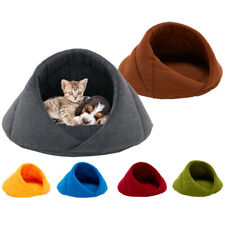 Fleece Dog Cat Bed House for Small Dogs Cave Bed Cozy Puppy Cats Calming Beds