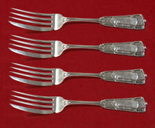 """Ribbon by Wendt Sterling Silver Fish Fork Set 4pc AS Custom Made 7"""""""