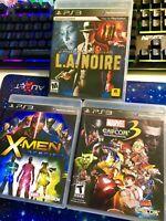 PS3 Lot Ultimate Marvel vs Capcom 3 Fate of Two Worlds  XMEN Destiny LA Noire