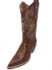 Men's Cowboy Boots Chameleon Print Leather Western Rodeo Botas Vaqueras Camaleon