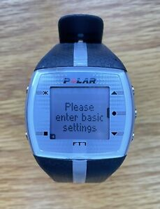 Polar FT7M Black/Silver with Heart Rate Monitor + Brand New Lithium Batteries