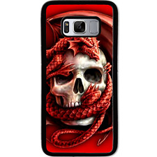 Samsung Galaxy S8 Case Phone Cover Skull Dragon Y00160