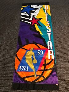 NBA 50th Anniversary All Star Weekend Banner 1997 50Greatest Michael Jordan RARE