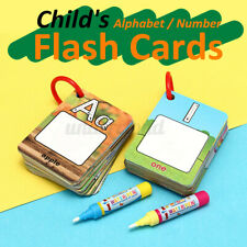 Kids Children Flash Card Preschool Educational Learning Picture Number Alphabet