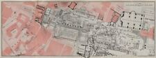 Forum romanum ground plan. rome. forum romain mappa. baedeker 1909 old