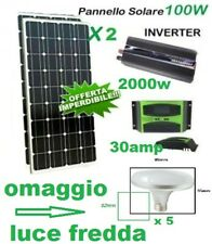 Kit Fotovoltaico Pwm Inverter 2000W Pannello Solare 200W regolatore 30 lampadina