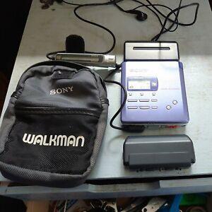 Sony MZ-R55 MD Walkman Portable Mini Disc Recorder + Accessories